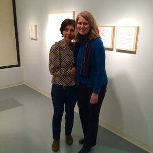 Wonderful seeing alumna Claudia Sbrissa ('12) and Dowd Gallery director…