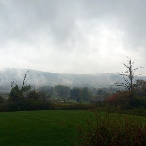 Cloudy gloomy rainy gorgeous fallishere residency retreat artscolony viewfromtheoffice flx