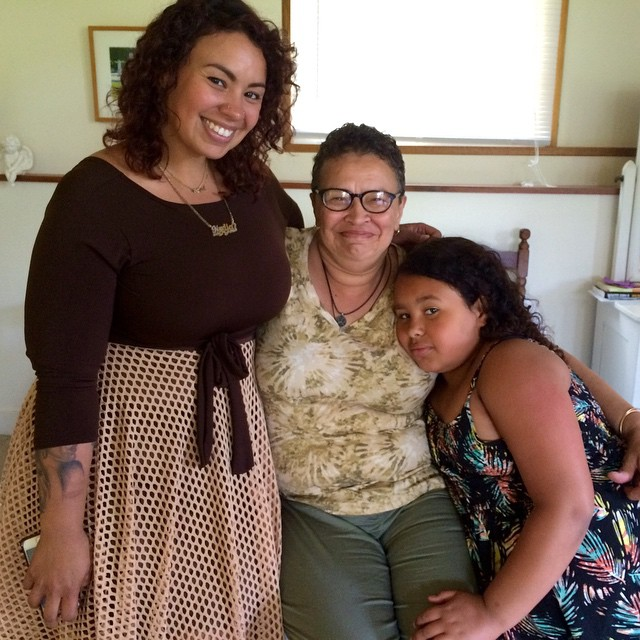 Three generations of fabulous. Photography Fellow Nydia Blas (left) brought half of Ithaca out for our Open House on Sunday, including her mom Karen (center) and her daughter Rosario (right). How sweet! #artistresidency #artistretreat #familylove