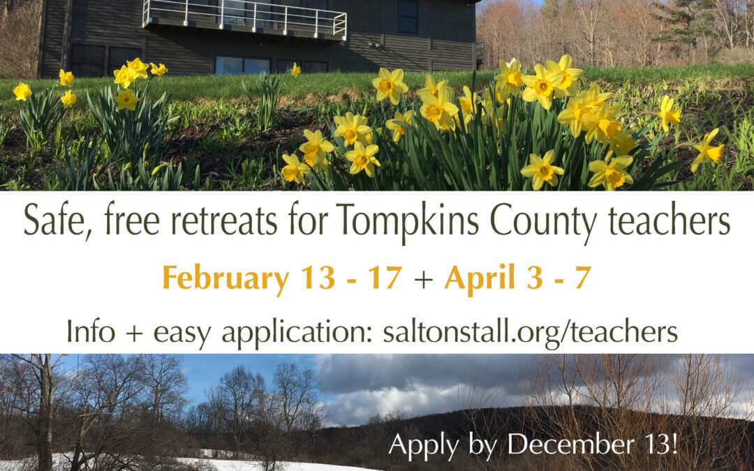 Retreats for local teachers: apply by Dec. 13!